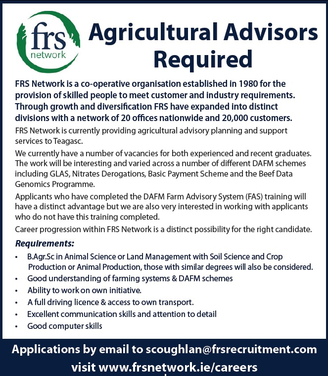 Agri advisor roles march 16