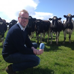 damien oreilly presenter of rte radio one countrywide on farm with herdwatch