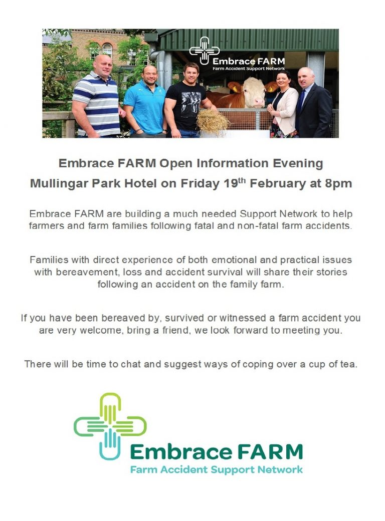 Embrace Farm Open Information Evening at the Mullingar Park Hotel