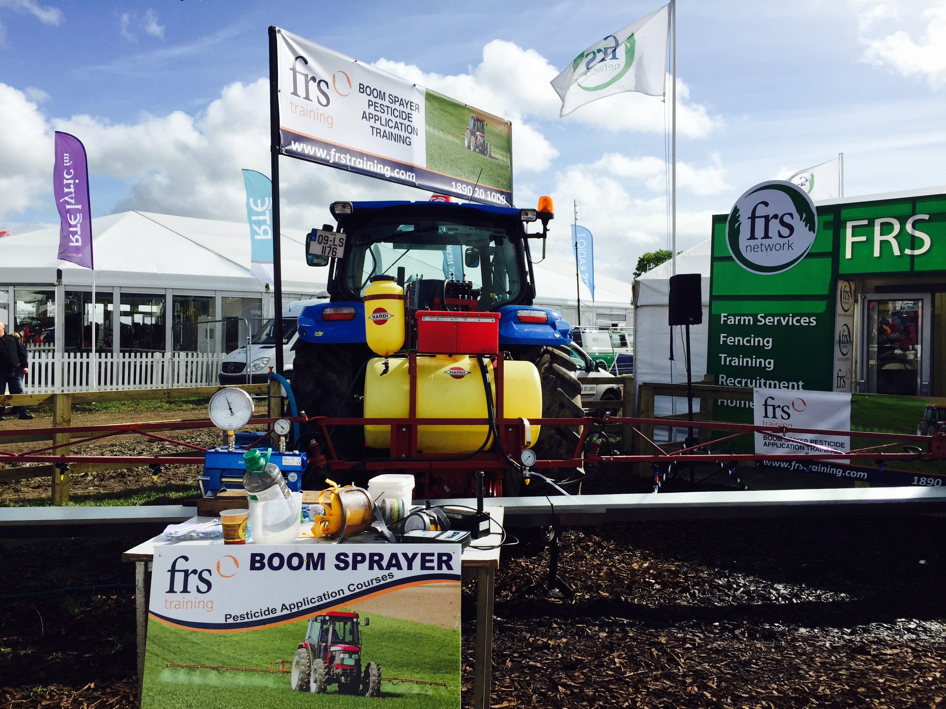 Boom demo at ploughing