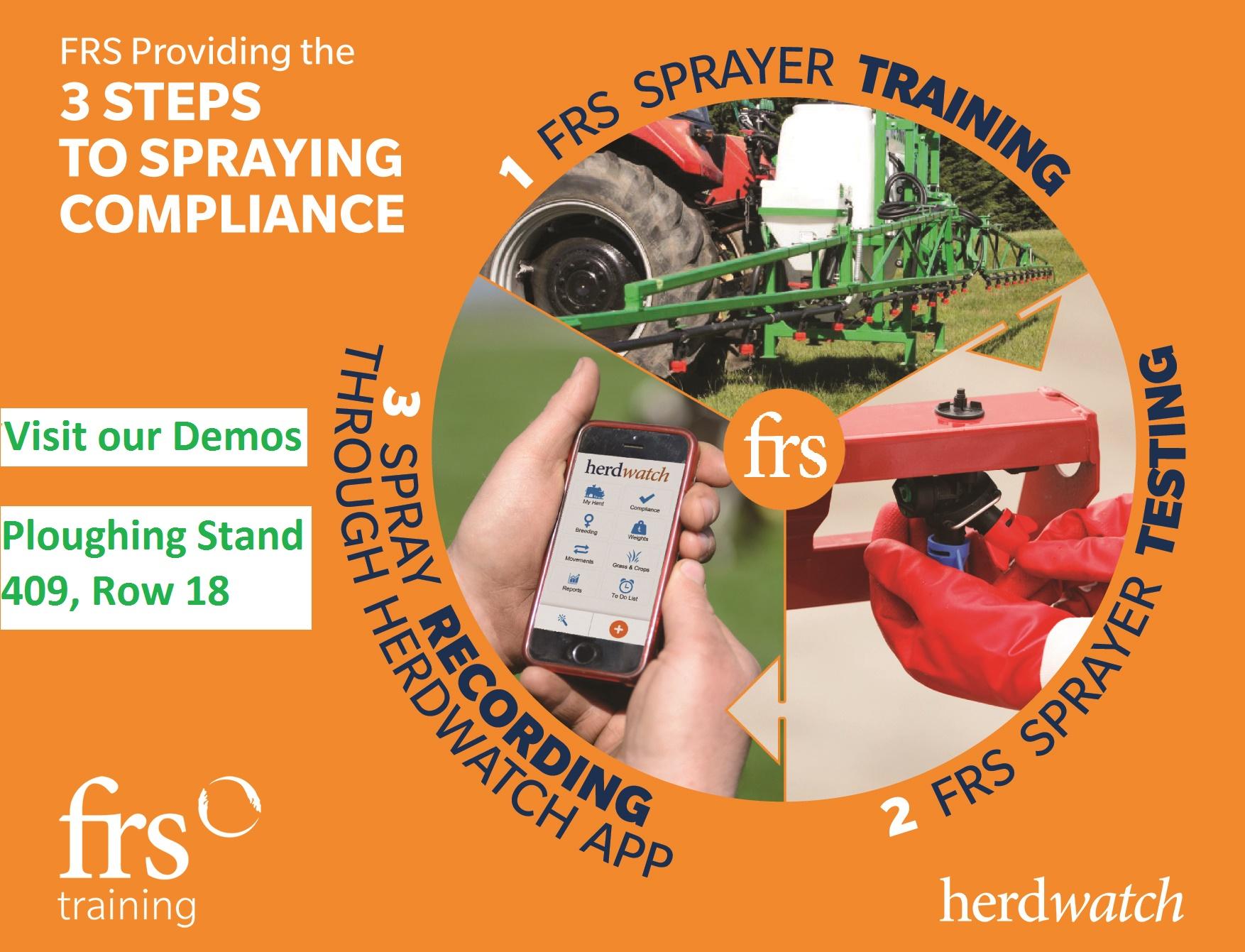 three steps to sprays compliance