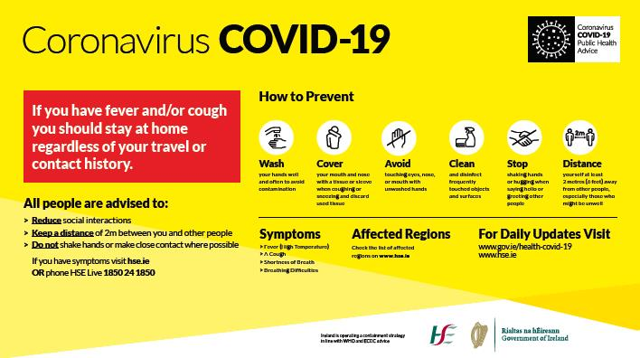 Guidelines for Farmers Requiring Service from FRS where a Coronavirus (Covid 19) Positive case has been Suspected or Identified.